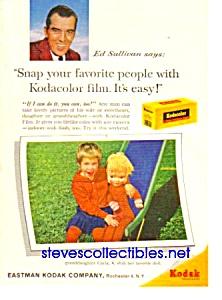 1960 ED SULLIVAN Kodak Film Magazine Ad (Image1)