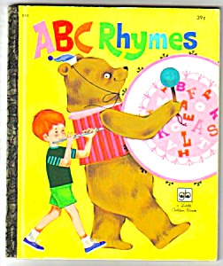 Abc Rhymes - Little Golden Book - 1972