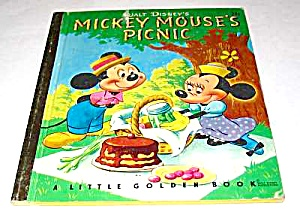 MICKEY MOUSE PICNIC Little Golden Book (Image1)