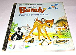 Bambi Friends Of The Forest - Disney Little Golden Book