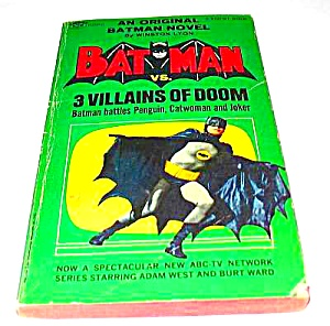 BATMAN vs. 3 VILLAINS OF DOOM 1966 Paperback (Image1)