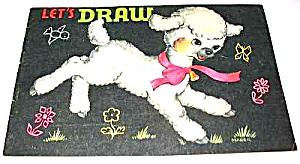 1953 Saalfield Lamb Let's Draw Coloring Book