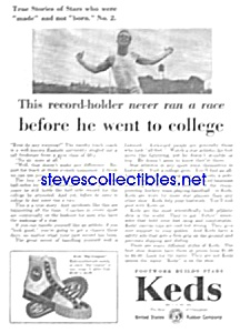1930 KEDS Sneakers RUNNER THEME Magazine Ad (Image1)
