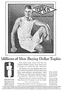 1927 Topkis Men's Underwear Ad