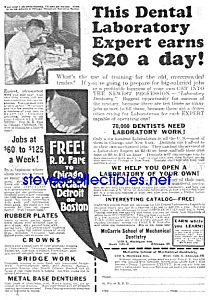 1926 MECHANICAL DENTISTRY-Denture Ad (Image1)
