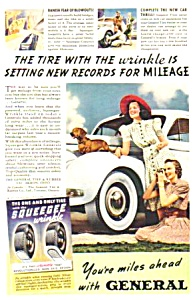 1939 General Tire DACHSHUND DOG Image Magazine Ad (Image1)