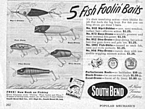 1949 South Bend Fishing Lures Magazine Ad