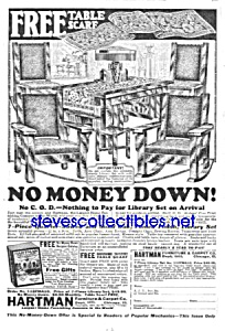 1924 MISSION STYLE Hartman Furniture Ad (Image1)