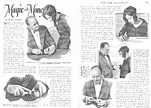 1927 MONEY MAGIC TRICKS Mag. Article L@@K! (Image1)
