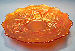 FENTON Pine Cone CARNIVAL GLASS Plate - Marigold (Image1)