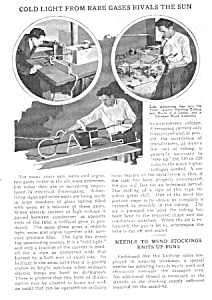 1928 NEON + OTHER Rare Gas SIGN MAKER Mag. Article (Image1)