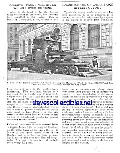 1923-200,000 Pound Safe Cleveland, Ohio Mag. Article