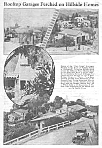 1933 HILLSIDE HOMES IN HOLLYWOOD Mag. Article (Image1)