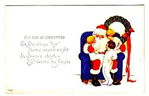 Early SANTA CLAUS w/Children Postcard (Image1)