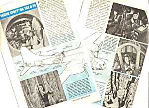 1945 INSIDE THE B-29 AIRCRAFT Aviation Mag. Article (Image1)