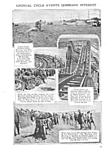 1917 MOTORCYCLE - ROLLER COASTER +STUNTS Mag. Article (Image1)