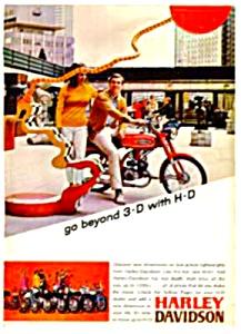1967 HARLEY DAVIDSON H-D Motorcycle Ad L@@K! (Image1)