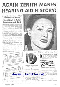 1944 Zenith HEARING AID Ad (Image1)