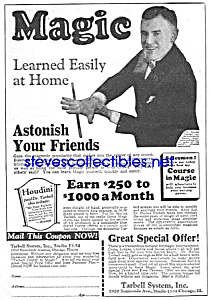 1927 LEARN MAGIC Tarbell Systems Ad (Image1)