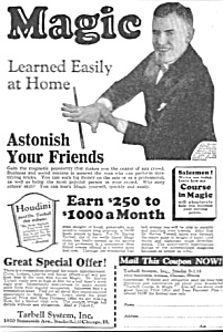 1927 LEARN MAGIC - Tarbell Systems Ad L@@K! (Image1)