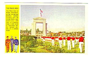 WWII Military PEACE ARCH, BLAINE, WASHINGTON Postcard (Image1)
