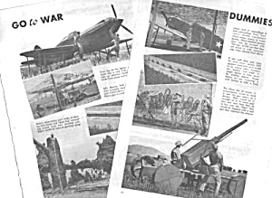 1943 USING DUMMY US AIRCRAFT-TANKS - WWII Mag. Article (Image1)