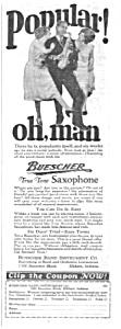 1926 Buescher SAXOPHONE Music Room Ad (Image1)