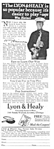 1926 Lyon and Healy SAXOPHONE Music Room Ad (Image1)