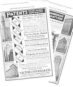 1930 Evans PATENT ATTORNEYS Magazine Ad (Image1)