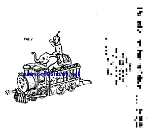 Patent Art: 1970s Mr. Chuff Chuff Toy Circus Train