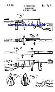 Patent Art: 1940s Toy Machine Gun (Tommy Gun) (Image1)