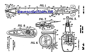 Patent Art: 1960s TOY SUBMARINE - matted (Image1)
