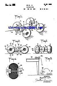 Patent Art: 1930s Marx TOY VEHICLE - matted (Image1)