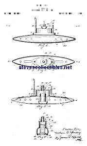 Patent Art: 1920s TOY SUBMARINE - matted (Image1)