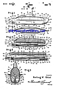 Patent Art: 1940s TOY SUBMARINE - matted (Image1)