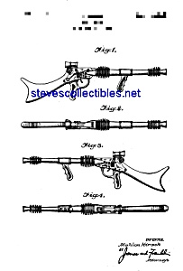 Patent Art: 1950s Marx Toy Rifle Space Toy