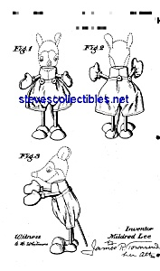 Patent Art: 1930s Mickey Mouse Doll - Matted