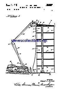 Patent Art: 1960s Firetruck Ladder Apparatus (Image1)