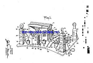 Patent Art: 1930s marx Toy Gas Station (Image1)