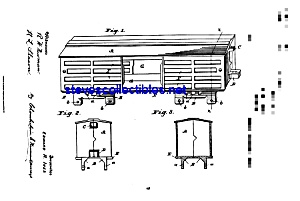 Patent Art: 1890s Ives Toy Train Freight Car (Image1)