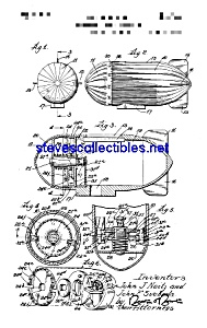 Patent Art: 1930s Airship Zeppelin Blimp Toy Bank