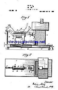 Patent Art: 1920s Donkey Mechanical Toy Bank