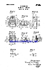 Patent Art: J And E Stevens Pay Telephone Toy Bank