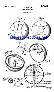 Patent Art: 1920s Toy Bank: Figural Baseball