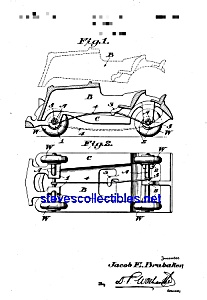 Patent Art: 1930s Hubley Toy Car (Image1)