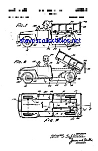 Patent Art: 1950s Marx Toy Dump Truck with Man (Image1)