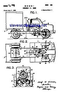 Patent Art: 1950s Steerable Toy Truck (Image1)