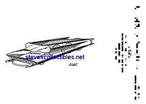 Patent Art: 1950s Futuristic Car Space Toy (Image1)