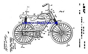 Patent Art: 1960s Mattel Motor Bicycle (Image1)