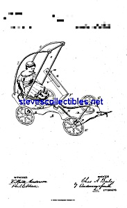 Patent Art: 1880s Bailey Cast Iron Toy Swing Cart (Image1)